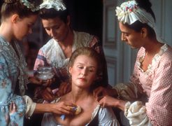Dangerous Liaisons (1988) Directed by Stephen Frears Shown: Glenn Close (center, as Marquise Isabelle de Merteuil)
