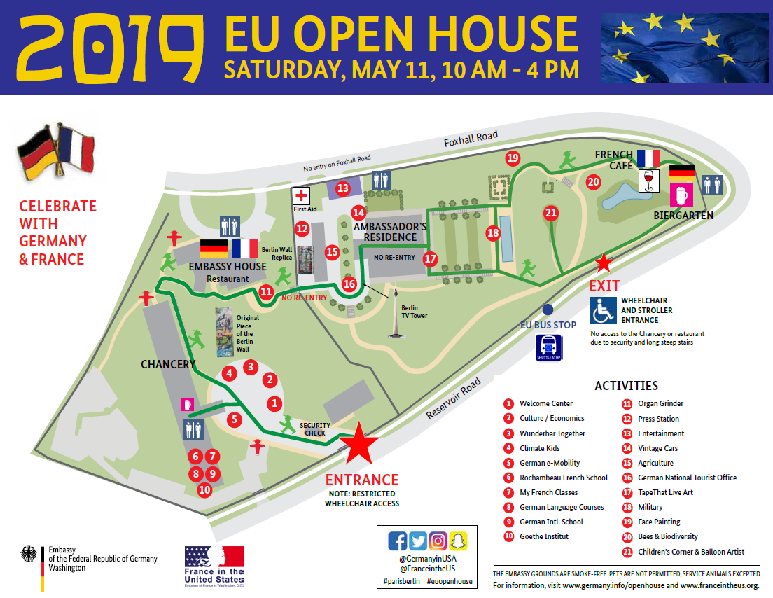 Map Of France Germany.Embassy Of France Germany Eu Open House European Union